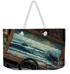 Weekender Tote Bag featuring the photograph Ocean On Wheels Artist Cart At Jackson Square New Orleans La Usa by Michael Hoard
