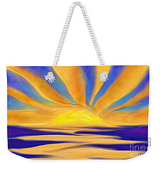 Ocean Sunrise Weekender Tote Bag by Anita Lewis