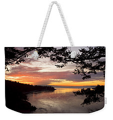 Weekender Tote Bag featuring the photograph Ocean Sunset Deception Pass by Yulia Kazansky