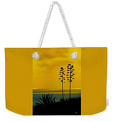 Ocean Sunset With Agave Silhouette Weekender Tote Bag