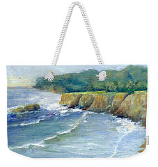 Ocean Surf Colorful Original Seascape Painting Weekender Tote Bag