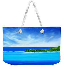 Ocean Tropical Island Weekender Tote Bag by Anthony Fishburne