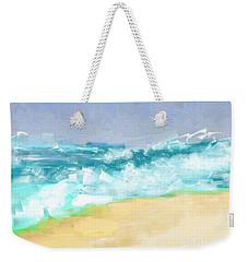 Weekender Tote Bag featuring the painting Ocean Vigor by Kristen Fox