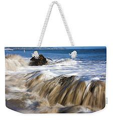 Ocean Waves Breaking Over The Rocks Photography Weekender Tote Bag by Jerry Cowart