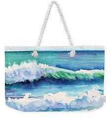 Ocean Waves Of Kauai I Weekender Tote Bag by Marionette Taboniar