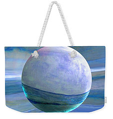 Weekender Tote Bag featuring the painting Oceans by Robin Moline