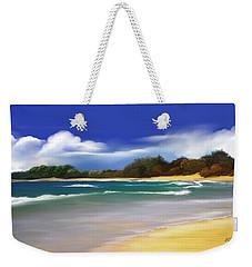 Weekender Tote Bag featuring the digital art Oceanside Dream by Anthony Fishburne