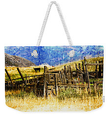 Weekender Tote Bag featuring the photograph October Day by Kathy Bassett