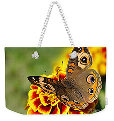 Weekender Tote Bag featuring the photograph October Garden by Nava Thompson