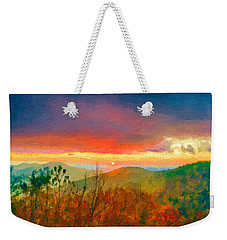 October Sunrise Painting On The Blue Ridge Parkway Weekender Tote Bag