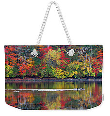 Weekender Tote Bag featuring the photograph October's Colors by Dianne Cowen