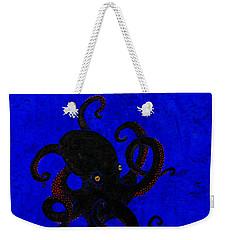 Octopus Black And Blue Weekender Tote Bag
