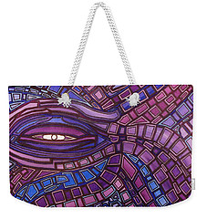 Weekender Tote Bag featuring the painting Octopus Eye by Barbara St Jean