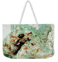 Octopus On The Reef Weekender Tote Bag by Amy McDaniel