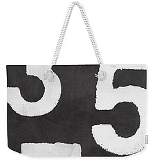 Odd Numbers Weekender Tote Bag by Linda Woods