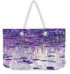 Weekender Tote Bag featuring the photograph Ode To Monet In Purple by Chris Anderson