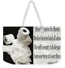 Ode To The Spare Roll Bw 2 Weekender Tote Bag