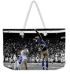 Odell Beckham Greatest Catch Ever Weekender Tote Bag by Brian Reaves