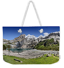 Oeschinen Lake Weekender Tote Bag by Carsten Reisinger