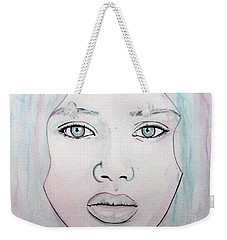 Weekender Tote Bag featuring the mixed media Of Colour And Beauty - Blue by Malinda Prudhomme