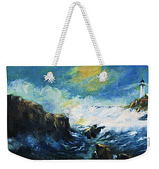 Off Shore Breakers At Dusk Weekender Tote Bag
