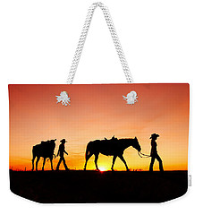 Off To The Barn Weekender Tote Bag by Todd Klassy