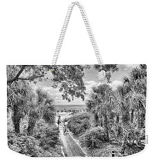 Weekender Tote Bag featuring the photograph Off To The Beach by Howard Salmon
