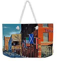 Weekender Tote Bag featuring the photograph Off To The Tilted Kilt by Luther Fine Art