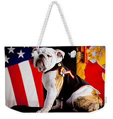 Weekender Tote Bag featuring the photograph Official Mascot Of The Marine Corps by Pg Reproductions