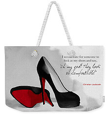 Oh My God Louboutin Weekender Tote Bag by Rebecca Jenkins