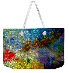 Weekender Tote Bag featuring the painting Oh The Joys Of Santa's Toys by Lisa Kaiser