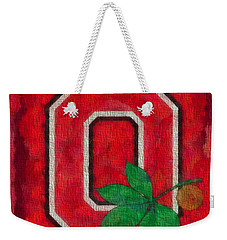 Ohio State Buckeyes On Canvas Weekender Tote Bag by Dan Sproul