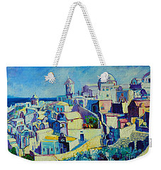 Weekender Tote Bag featuring the painting OIA by Ana Maria Edulescu