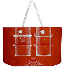 Oil Drum Patent Drawing From 1905 Weekender Tote Bag