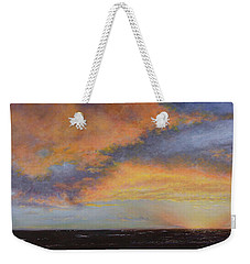 Oil Painting When The Sky Turns Color Weekender Tote Bag