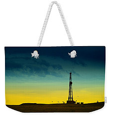Oil Rig In The Spring Weekender Tote Bag