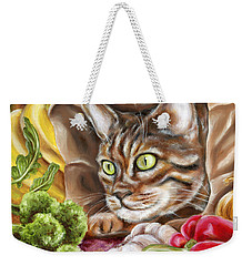 Weekender Tote Bag featuring the painting Ok Now What by Hiroko Sakai