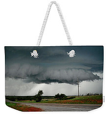 Oklahoma Wall Cloud Weekender Tote Bag by Ed Sweeney