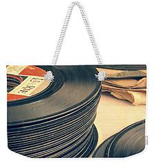 Old 45s Weekender Tote Bag by Edward Fielding