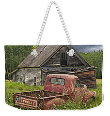 Old Abandoned Homestead And Truck Weekender Tote Bag by Randall Nyhof
