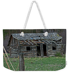 Weekender Tote Bag featuring the photograph Old Abandoned Homestead Cabin Art Prints by Valerie Garner