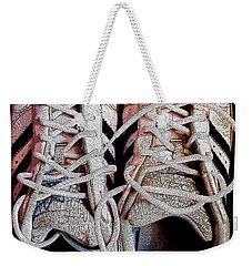 Weekender Tote Bag featuring the photograph Old Adidas Supestar II by Don Pedro De Gracia