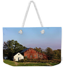 Old Barn At Sunset Weekender Tote Bag