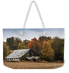Weekender Tote Bag featuring the photograph Old Barn by Debbie Green