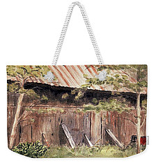 Old Barn Door Weekender Tote Bag