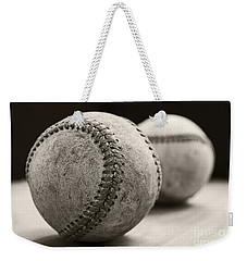 Old Baseballs Weekender Tote Bag by Edward Fielding