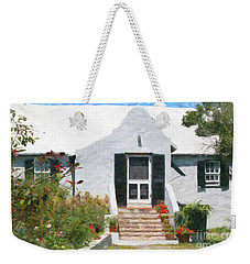 Weekender Tote Bag featuring the photograph Old Bermuda Home by Verena Matthew