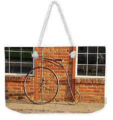 Weekender Tote Bag featuring the photograph Old Bike by Mary Carol Story