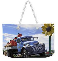 Old Blue Farm Truck  Weekender Tote Bag by Patrice Zinck