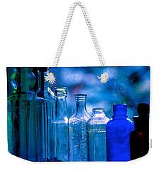 Old Blue Glass Bottles In The Window... Weekender Tote Bag